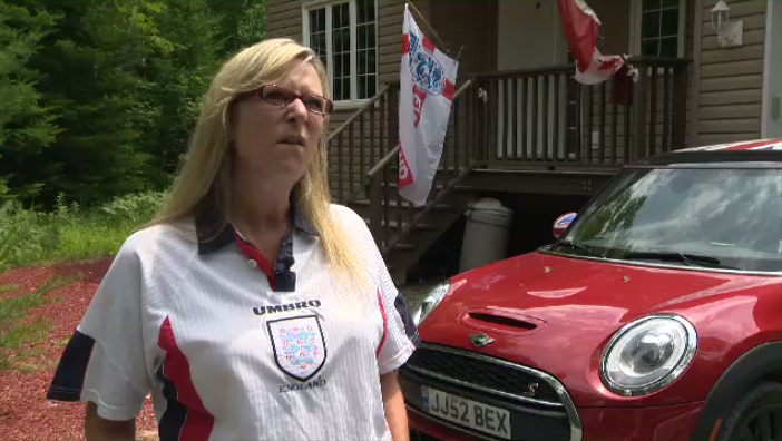 """We've not been this far since 1990,"" says England fan Be Saunders. ""So yeah, it's a pretty big deal,"" said Bex Saunders, a self-described ""Brit Chick."""