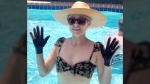 Would you wear gloves in the pool to avoid pruney