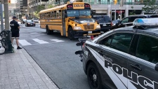 Police presence in downtown Toronto