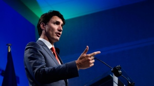 Prime Minister Justin Trudeau holds a press conference at the NATO Summit in Brussels, Belgium, on Thursday, July 12, 2018. THE CANADIAN PRESS/Sean Kilpatrick