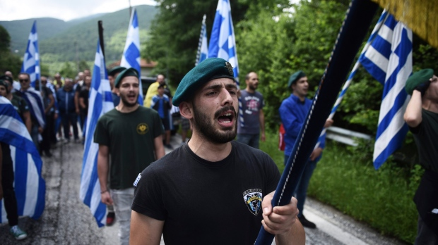 Opponents of the deal between Greece and Macedonia