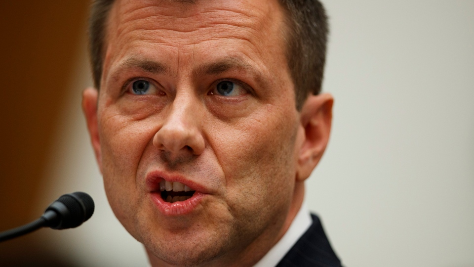 "FBI Deputy Assistant Director Peter Strzok testifies before the House Committees on the Judiciary and Oversight and Government Reform during a hearing on ""Oversight of FBI and Department of Justice Actions Surrounding the 2016 Election,"" on Capitol Hill, Thursday, July 12, 2018, in Washington. (AP Photo/Evan Vucci)"