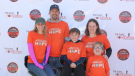 """Darren More and his family at a """"Journey for Jasper"""" fundraiser."""