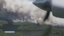 Drifting forest fire smoke can travel far