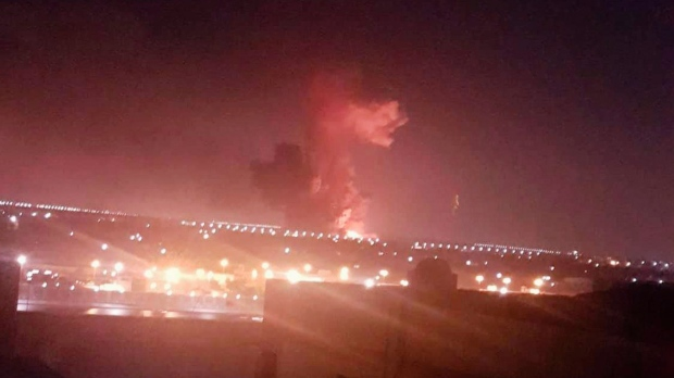 Explosion at a chemicals factory in Cairo