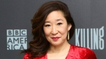 Sandra Oh arrives at BBC AMERICA's Killing Eve SAG-AFTRA Foundation Screening and Q&A event on Wednesday, April 4th, 2018, in New York. Killing Eve premieres on BBC AMERICA on Sunday, April 8th. (Photo by Stuart Ramson / BBC AMERICA via Invision / AP)