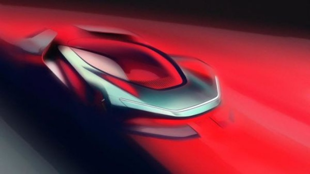 Pininfarina PF0 Concept teaser sketch