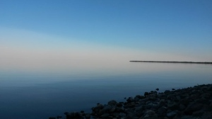 A view of Lake Winnipeg from Hnausa. Photo by: Ray Bernier