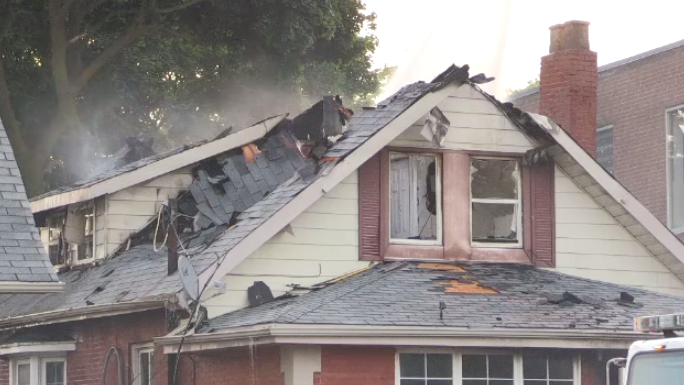 Six people escaped unharmed from a house fire on King Street East. (July 12, 2018)