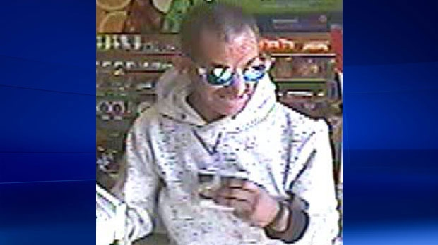 Police say this man is believed to be responsible for eight thefts at Calgary convenience stores. (Supplied)