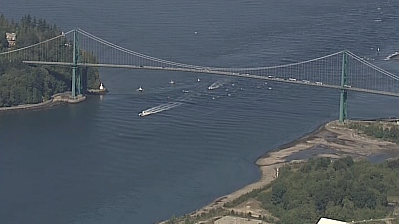 Police responded to an incident mid-span on the Lions Gate Bridge on July 13. The bridge was closed to traffic shortly after.
