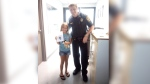Staff at the Norfolk International Airport reunited the little girl with her lost stuffed animal. (Kelly Weimer Bridges / Facebook)