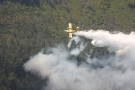CL415 waterbomber works on fire North Bay 46