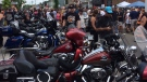 Thousands of bikers convened in Port Dover, Ont. on Friday, July 13th, 2018 for the 'Friday the 13th' Biker rally. (Jim Holmes/CTV News)
