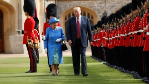 Trump with the Queen