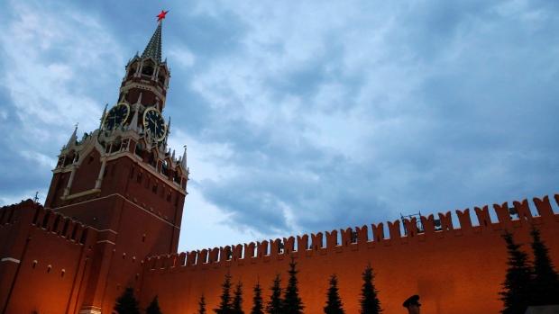 Kremlin at dusk in Red Square