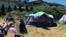 Campers remain at tent city despite eviction order