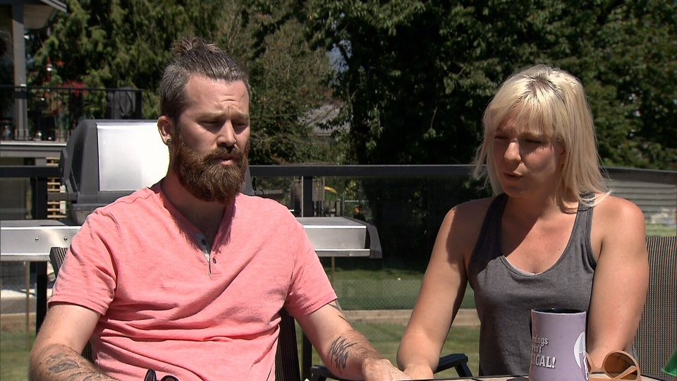 Graeme Rooney, left, and Rachel Murrell speak to CTV News on July 13, 2018.