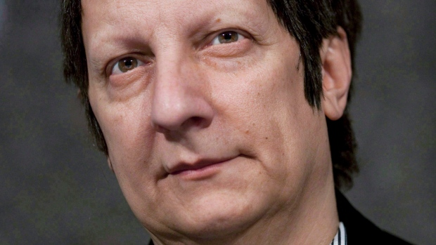 Canadian playwright, actor, film director and stage director Robert Lepage, of Quebec City, speaks to reporters at the National Arts Centre in Ottawa on November 10, 2010. THE CANADIAN PRESS/Sean Kilpatrick