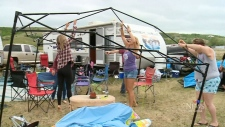 Wild weather at Country Thunder