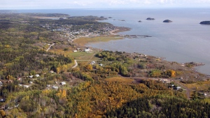 An aerial view of Fort Chipewyan, Alta., on the border of Wood Buffalo National Park is shown on Monday, Sept. 19, 2011. THE CANADIAN PRESS/Jeff McIntosh