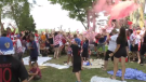 Fans at the K-W Croatia Club celebrated the club's silver medal in the FIFA World Cup.