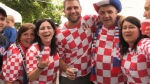 Croatian community celebrating second-place finish