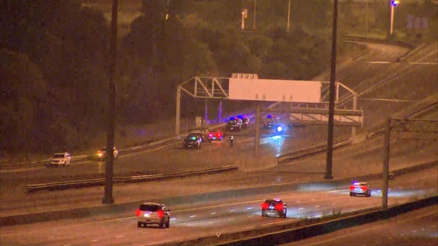 Five people were injured in a crash on Highway 401 in North York.