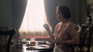 "Olivia Colman in the first image of her depicting Queen Elizabeth II in the upcoming season of ""The Crown."" (Netflix/Twitter)"