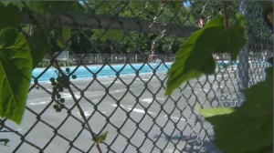 It's believed that the teen hopped the fence to gain access to the pool in Ahuntsic-Cartierville. It's unknown at this point whether he was alone or with friends at the time. (CTV Montreal)