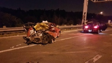 Highway 401 crash in North York