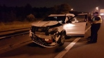 Five people suffered varying injuries in a crash on Hwy. 401 in North York on July 16, 2018. (OPP Sgt. Kerry Schmidt/Twitter)
