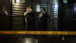 Police respond to a shooting at a Surrey townhouse complex late Sunday night.
