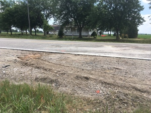 The site of a fatal crash on County Road 42 in Lakeshore, Ont., Monday, July 16, 2018. (Bob Bellacicco / CTV Windsor)
