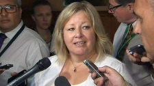 Education minister Lisa Thompson speaks to reporters at Queen's Park on July 16, 2018.