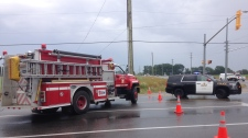 One man has been airlifted to Toronto following a Barrie crash on Monday July 16, 2018 (CTV Barrie Krista Sharpe)