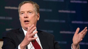 U.S. Trade Representative Robert Lighthizer speaks at the 9th China Business Conference at the U.S. Chamber of Commerce in Washington, Tuesday, May 1, 2018. The NAFTA negotiations could continue for a while, with U.S. trade czar Robert Lighthizer signalling that he wants significant changes in multiple areas, and isn't interested in a quick, limited deal. THE CANADIAN PRESS/AP-Cliff Owen