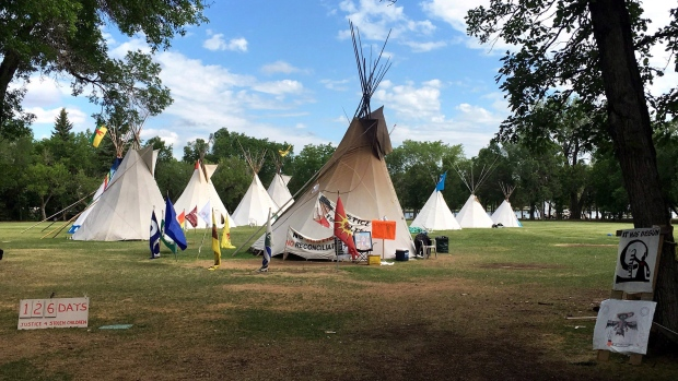 Protest teepees