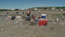 Cleaning up after Country Thunder
