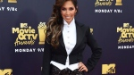 FILe - In this June 16, 2018 file photo, Farrah Abraham arrives at the MTV Movie and TV Awards in Santa Monica, Calif. (Photo by Jordan Strauss/Invision/AP, File)