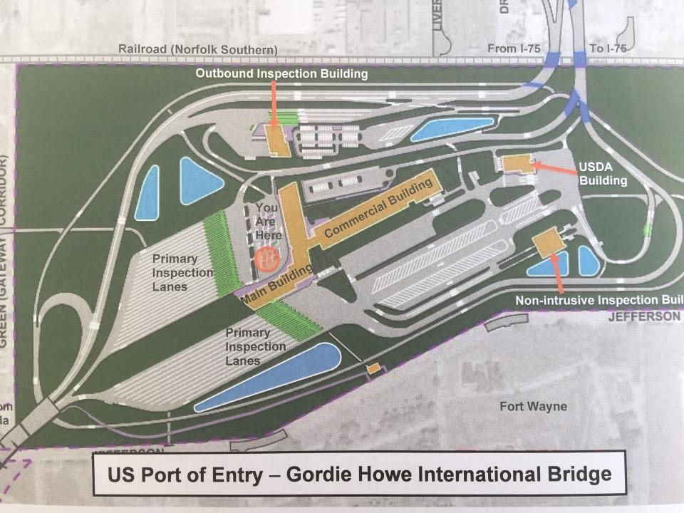 US Port of Entry for the Gordie Howe International Bridge in Detroit. (Courtesy WDBA)