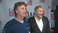 Former NDP leader Tom Mulcair will sit in with Andrew Carter (left) on the morning show, and Aaron Rand in the afternoon twice weekly to give some political context to CJAD listeners. (CTV Montreal)