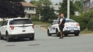 There was a heavy police presence in the Bedford area on July 17, 2018, as officers searched for an armed robbery suspect.
