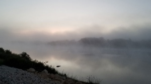 Fog over the Red river. Photo by Karen Fey