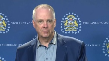 Calgary Police Chief Roger Chaffin announced his retirement at a press conference on July 17, 2018.