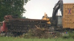 Freight train derails in Quebec
