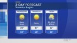 Overnight temps cool, warm and clear Wednesday