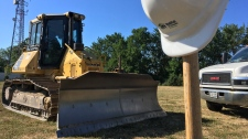Groundbreaking for new the Habitat for Humanity ReStore at 55 Edenborough St. in Windsor, Ont., on Tuesday, July 17, 2018. (Chris Campbell / CTV Windsor)
