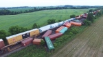 Extended: Drone footage of Quebec train derailment