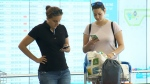 Jessie Brillouet (left) is one of 800 passengers stranded in Montreal after Level, a low-cost airline from Spain, cancelled a series of Paris-bound flights.